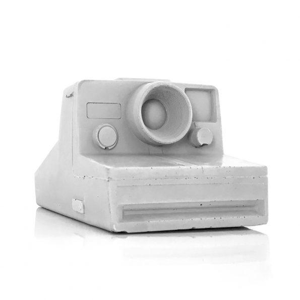 Betonnen vintage polaroid