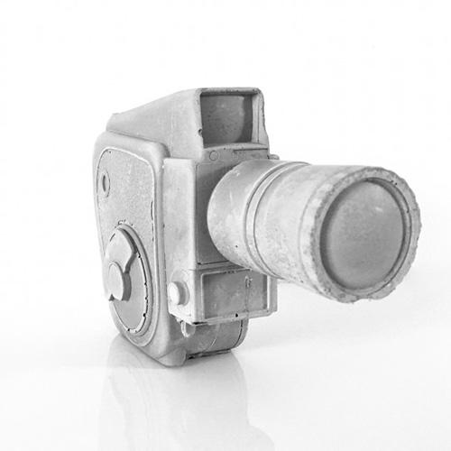 Betonnen camera 8mm vintage